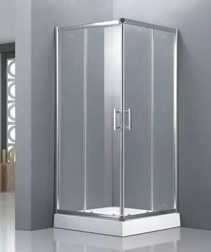 Imagen de Box Cabina Ducha 90x90 Recto Vidrio Templado Transparente